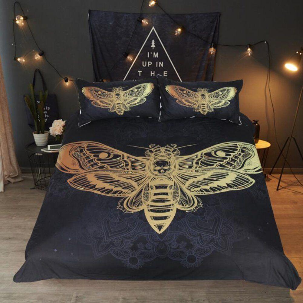 Wfh Motten Muster Bettwasche 3 Set Von 3 Reversible Polyester
