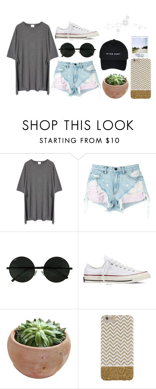 """""""Uh Huh Honey"""" by cassidy-vn ❤ liked on Polyvore featuring Momewear, Alexander Wang and Converse"""
