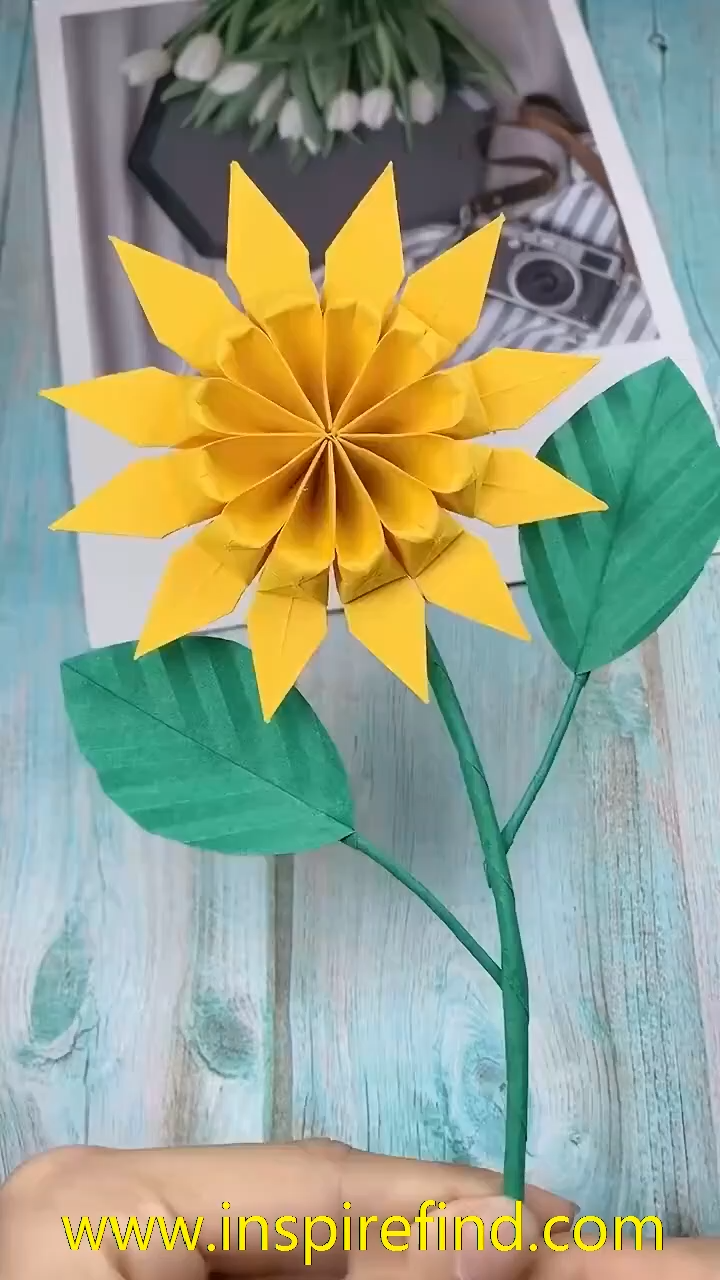 Paper Diy sunflower For you Loved ones