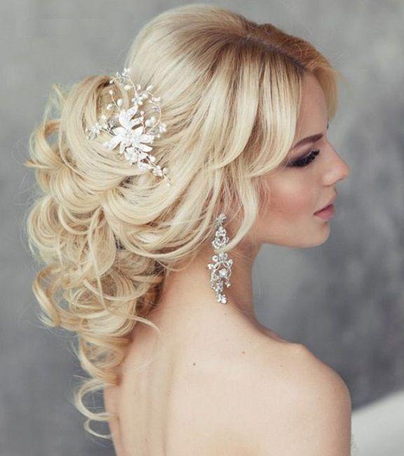 Bridal Hair Fascinators Wedding Hair Down With Headband ...