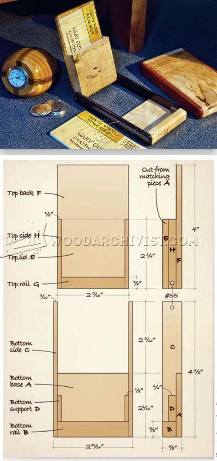 Diy business card holder business card holders woodworking plans diy business card holder reheart Gallery