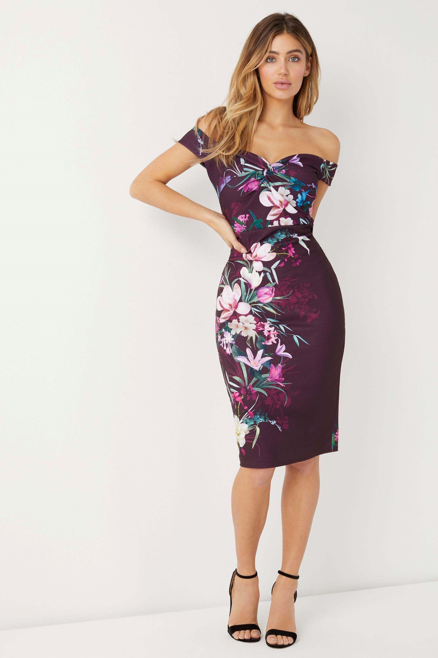 84a01224ca Buy Lipsy Maya Print Bardot Dress from Next Mexico