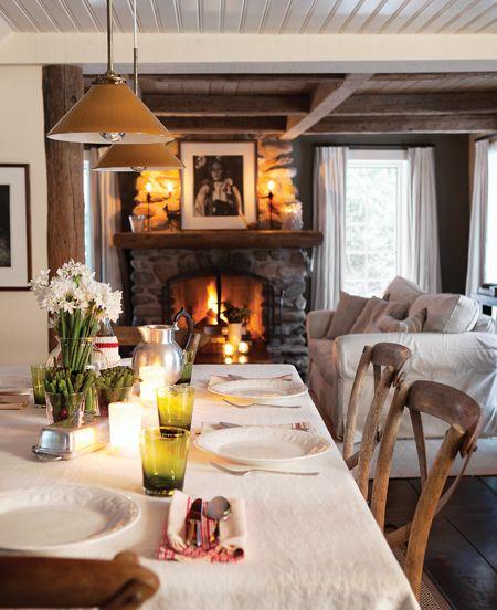 Photos  20+ salles à manger rassembleuses Foyers, Cabin and