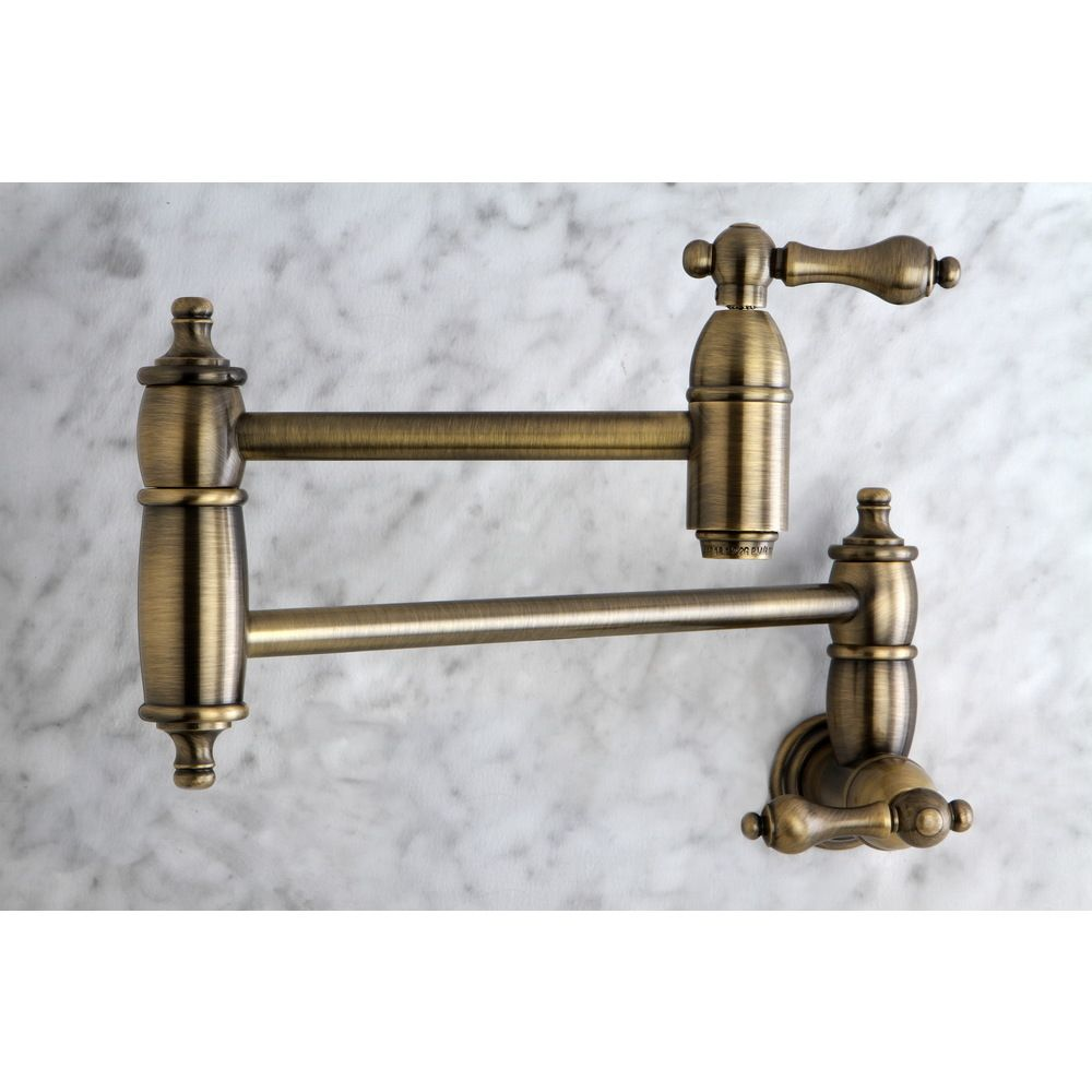 Restoration Kitchen Vintage Brass Pot-filler Faucet by Kingston ...