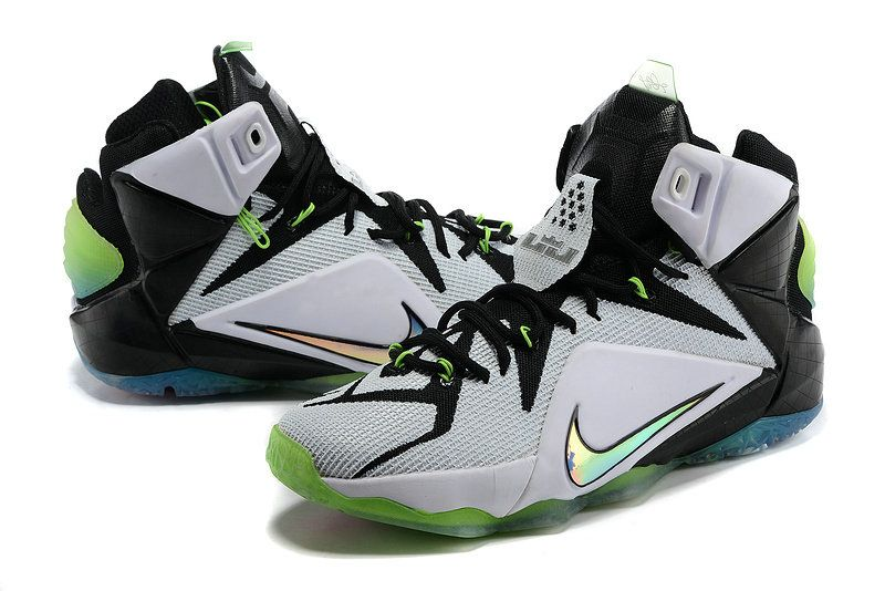 58c717ffdbd WMNS LeBron 12 GS All Star White Multicolor Black Poison Green 742549 190
