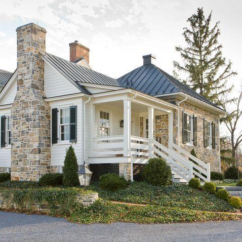 exterior siding combination ideas via lauren weber - Stone Farmhouse Exteriors