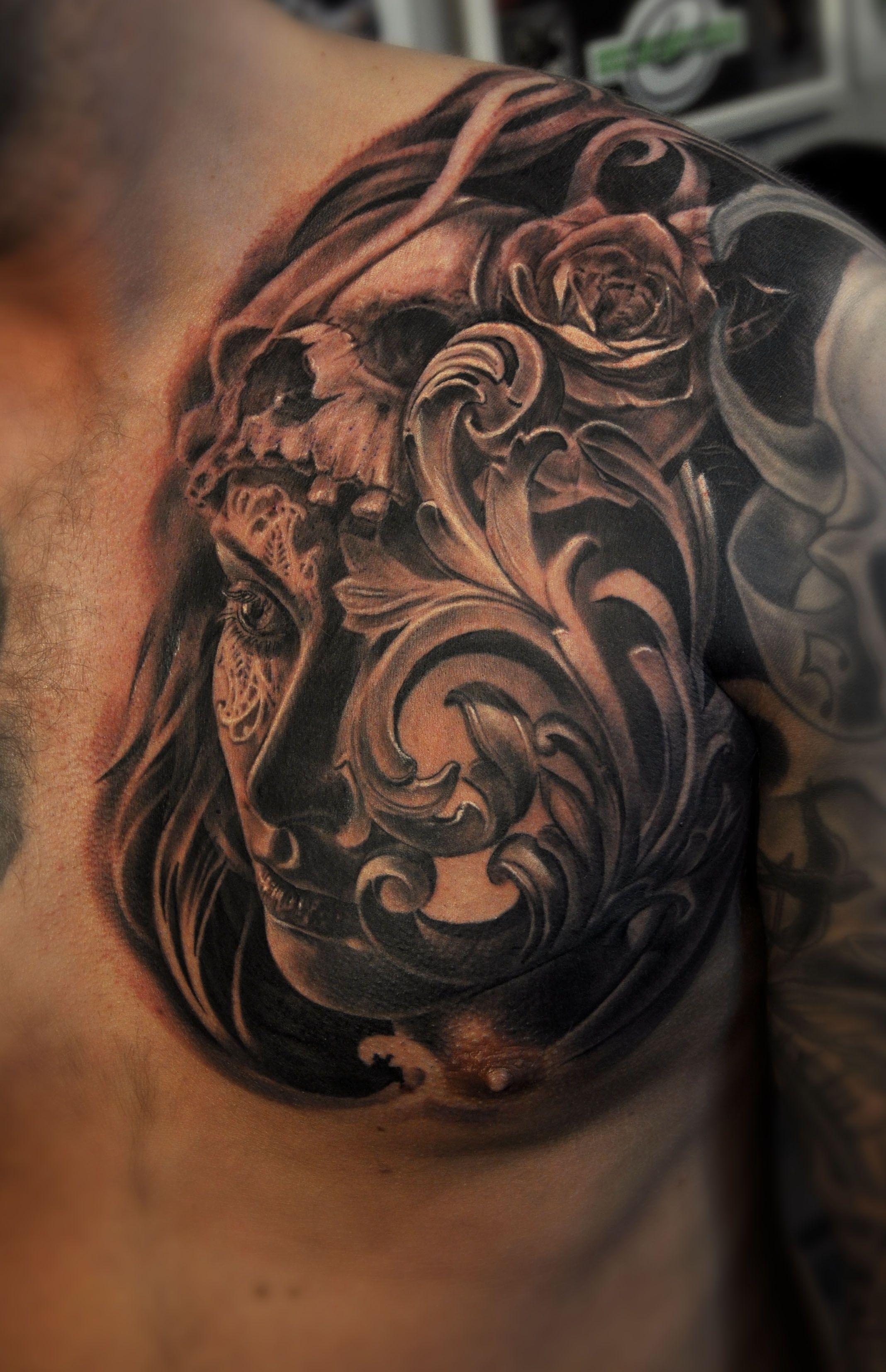 Like It Filigree Tattoo Chest Piece Tattoos Cool Chest Tattoos