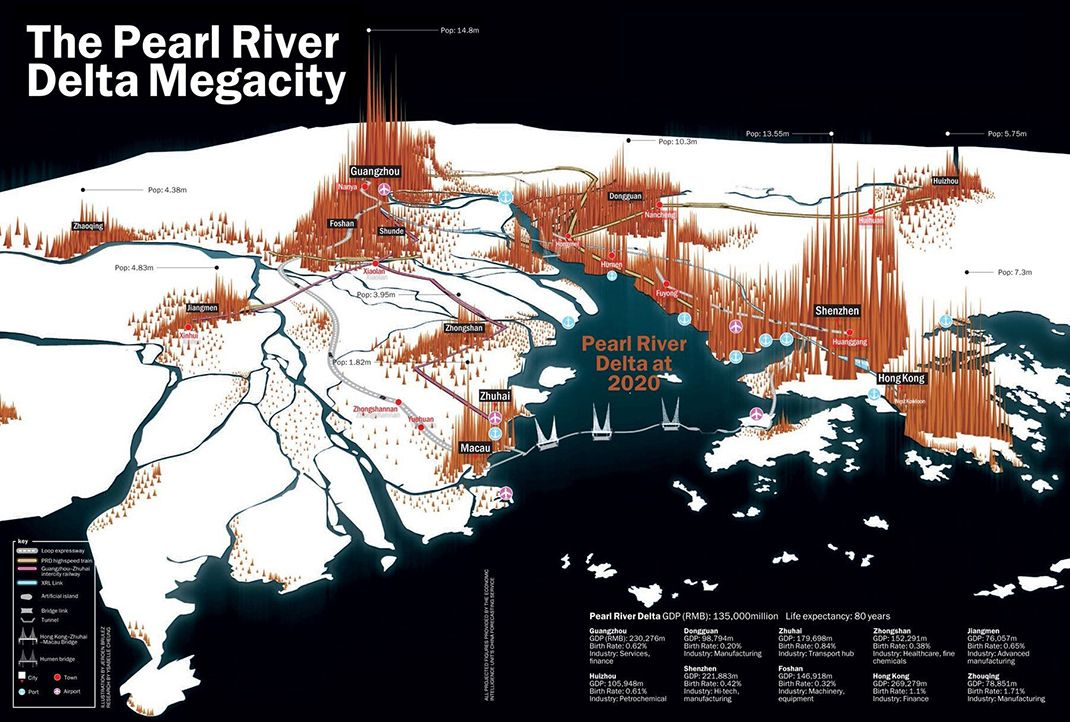 Megacity 2020 The Pearl River Deltas Astonishing Growth View A