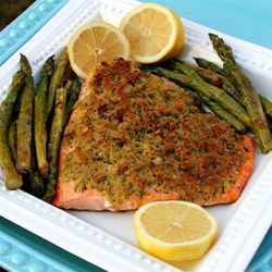Baked Salmon with Basil and Lemon Thyme Crust - Allrecipes.com