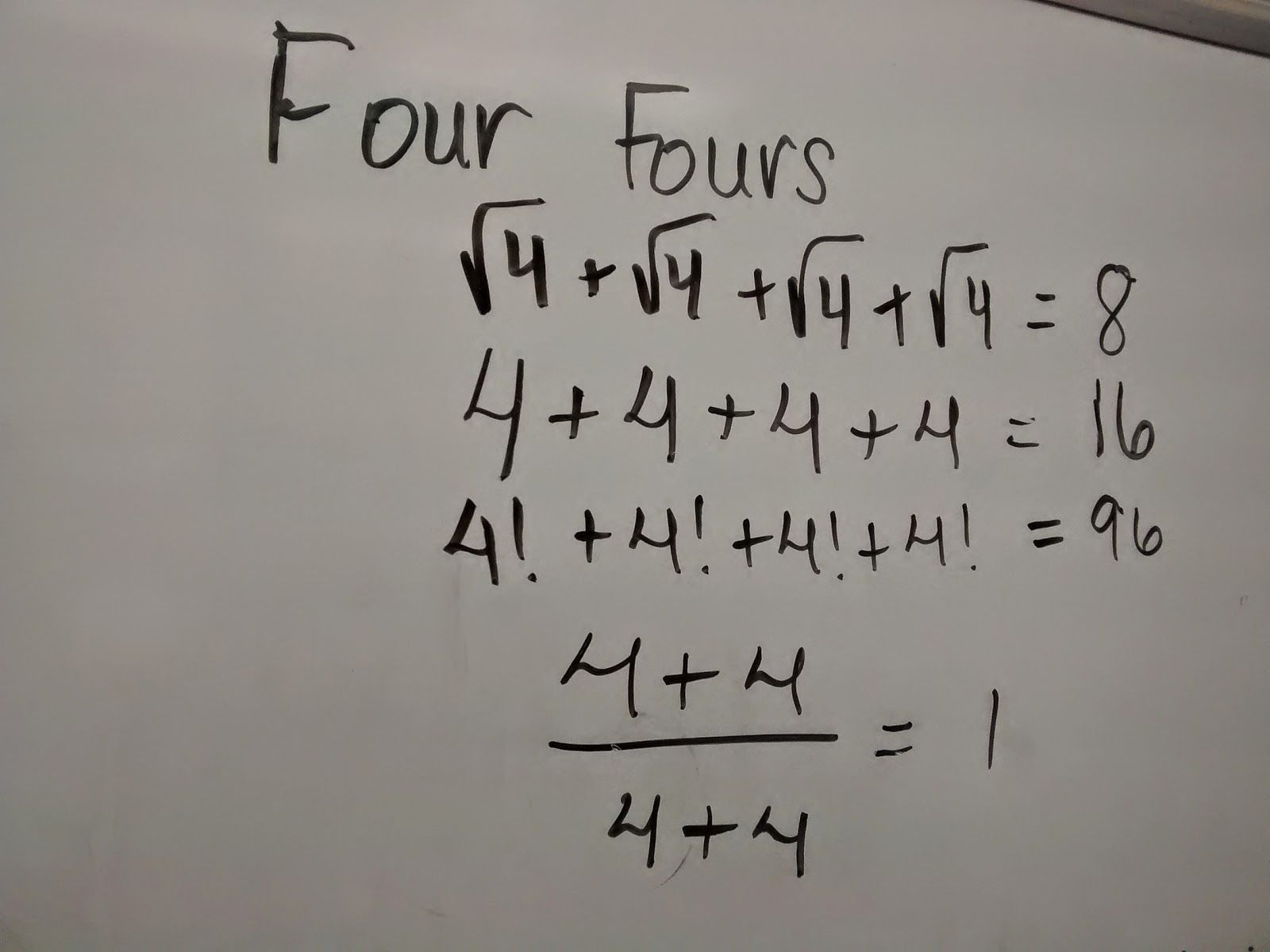 Four Fours Tons Of Fun 8th Grade Math Worksheets Teaching Middle School Maths Middle School Math