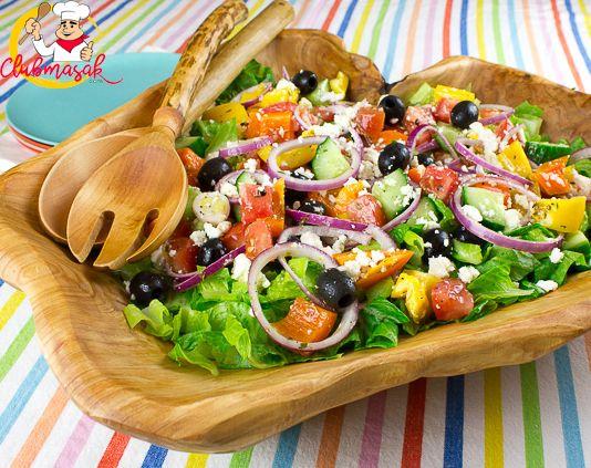 Resep Salad Ala Cafe Salad Ala Yunani Club Masak Resep Salad Masakan Indonesia Resep
