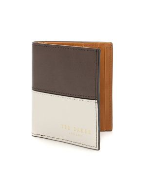 Small colour block bifold wallet