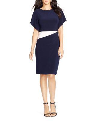 Flutter Lauren Ralph Color Petites Sleeve Block Dress 7bgf6y
