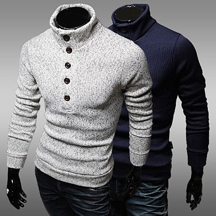 Button Up Turtleneck Sweater . Shop Now At http://sneakoutfitters ...