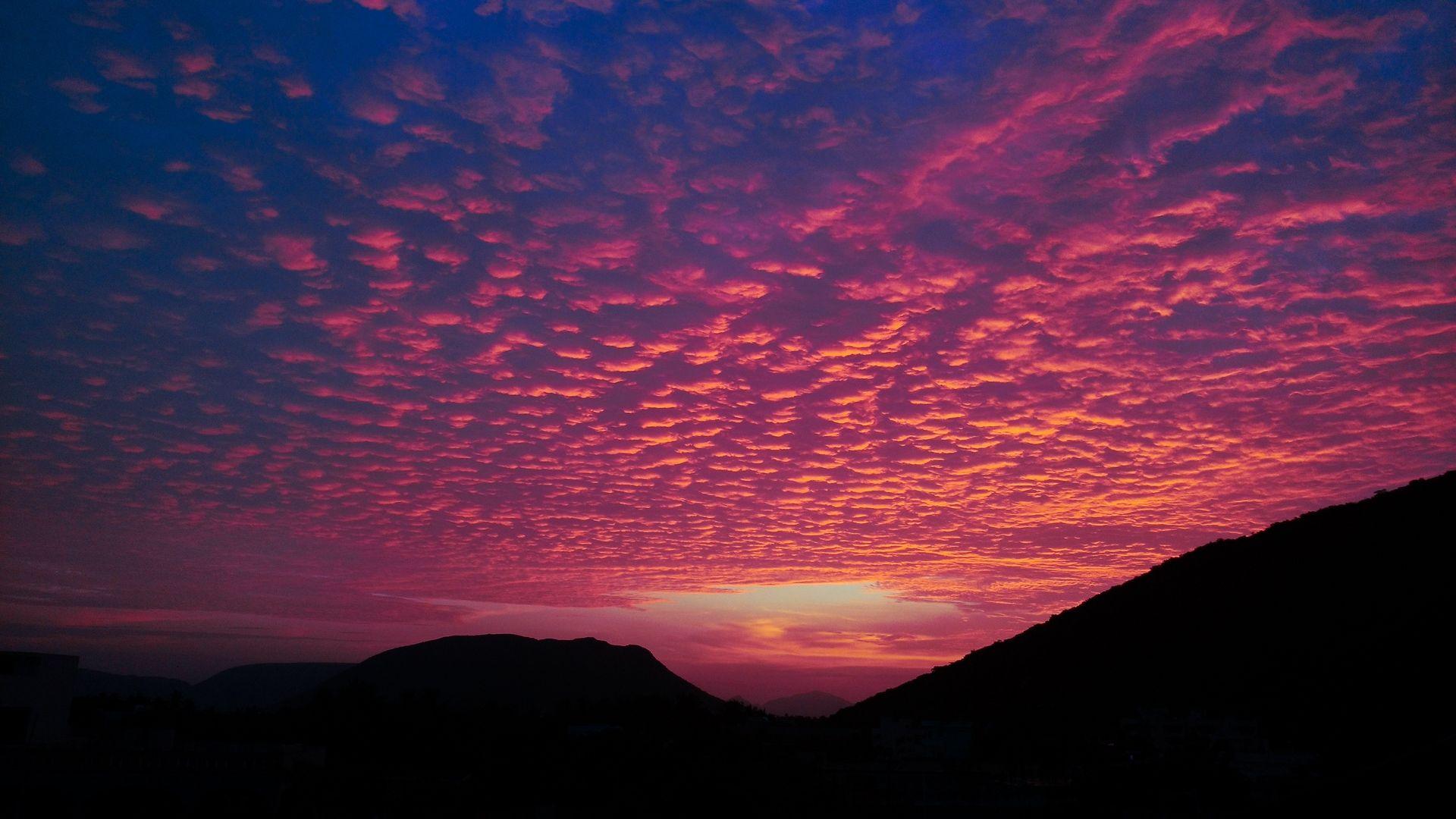Wallpaper Porous Evening Hills Clouds Sunset Forest Resort Clouds Sunset Best Resorts Hd wallpaper sunset clouds road hills