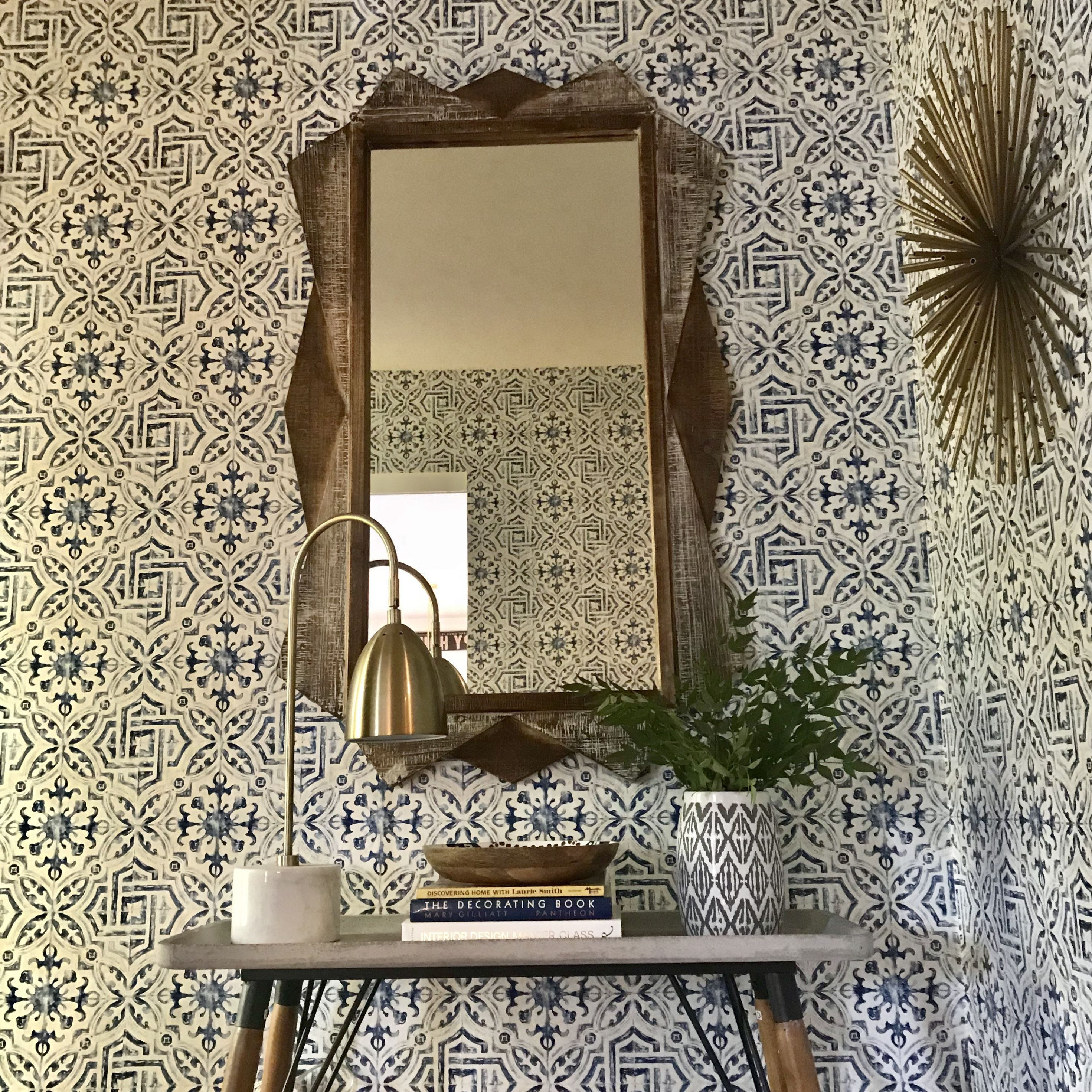 Wallpaper, Entryway Ideas, Foyer Ideas, Entryway Decor, Mirror In Entryway,