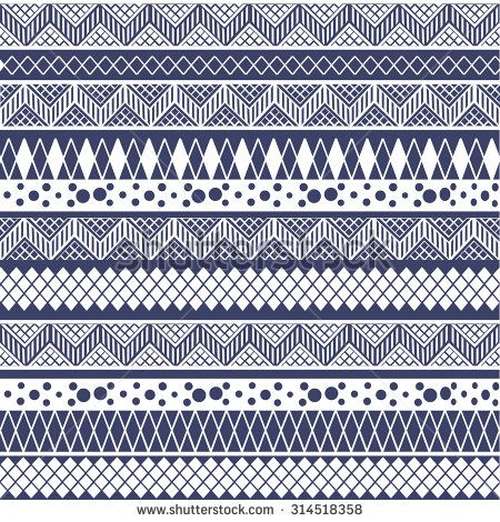 Ethnic seamless pattern. Tribal art print, repeatable background. Fabric design, wallpaper, wrapping - stock vector