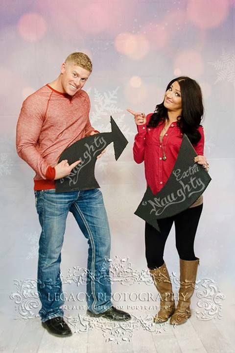 Christmas Card Photo Holiday Couple Naughty And Nice Signs Couples Photography Legacy