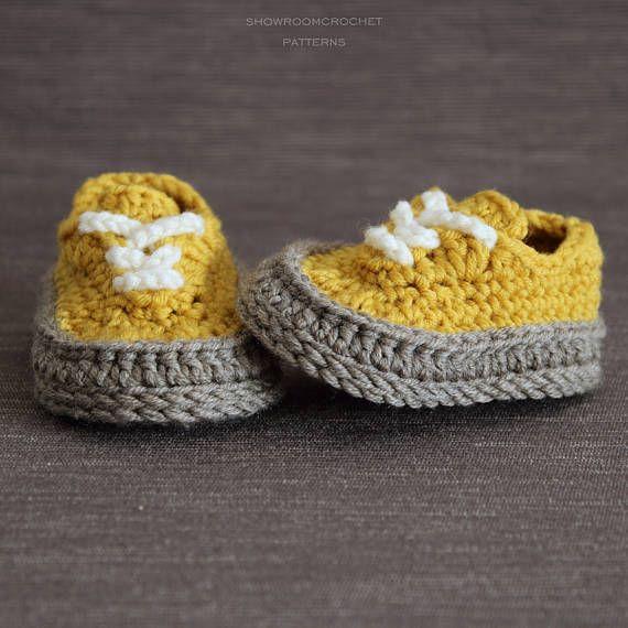 Crochet PATTERN baby Classis sneakers | Patrones de crochet ...