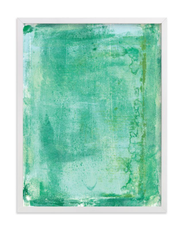 Ocean abstract iv art print by vine and thistle in beautiful frame options
