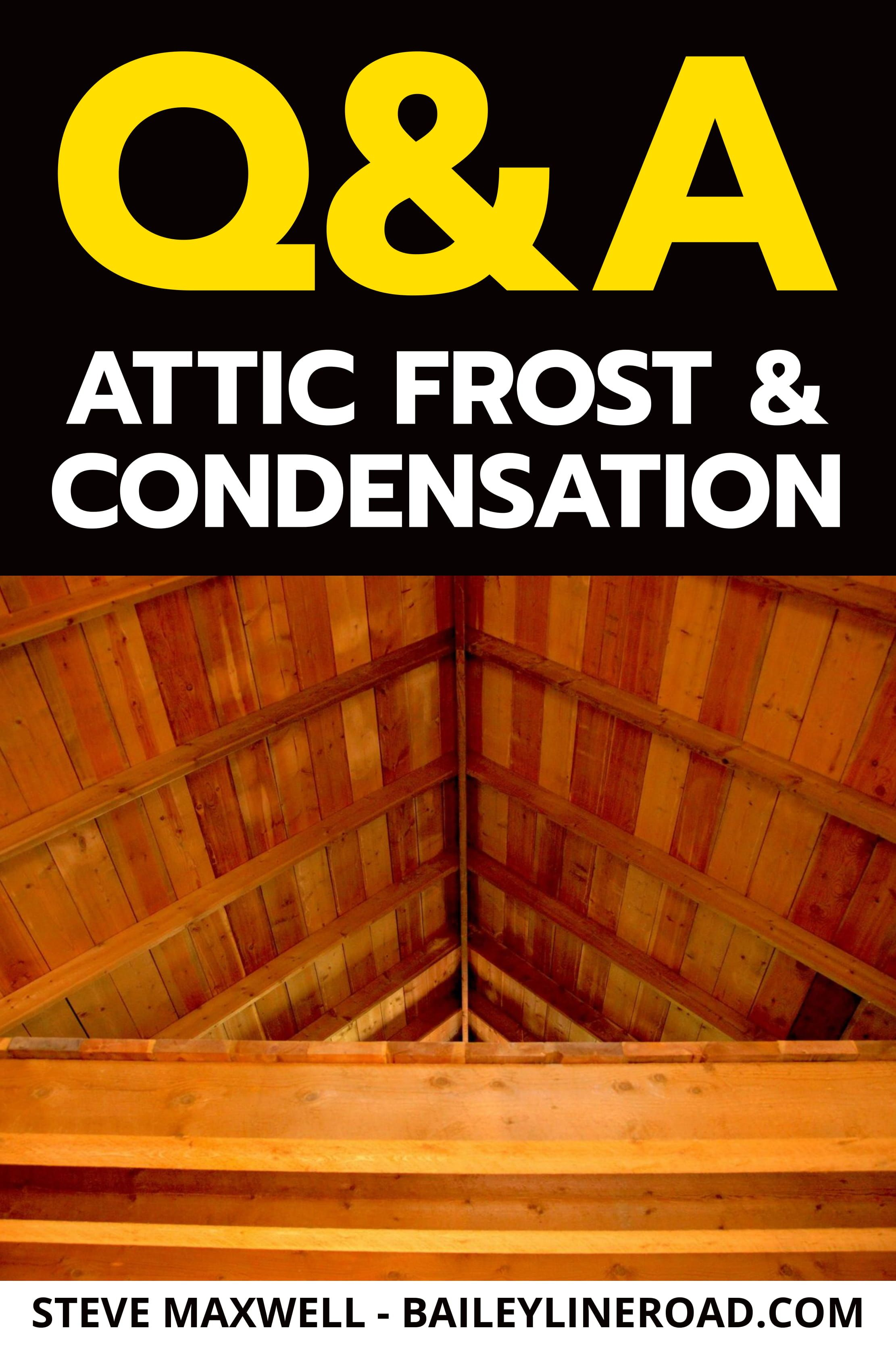 Roof Leak On A Sunny Day Melting Attic Frost May Be The Cause Baileylineroad In 2020 Attic This Or That Questions Leaking Roof