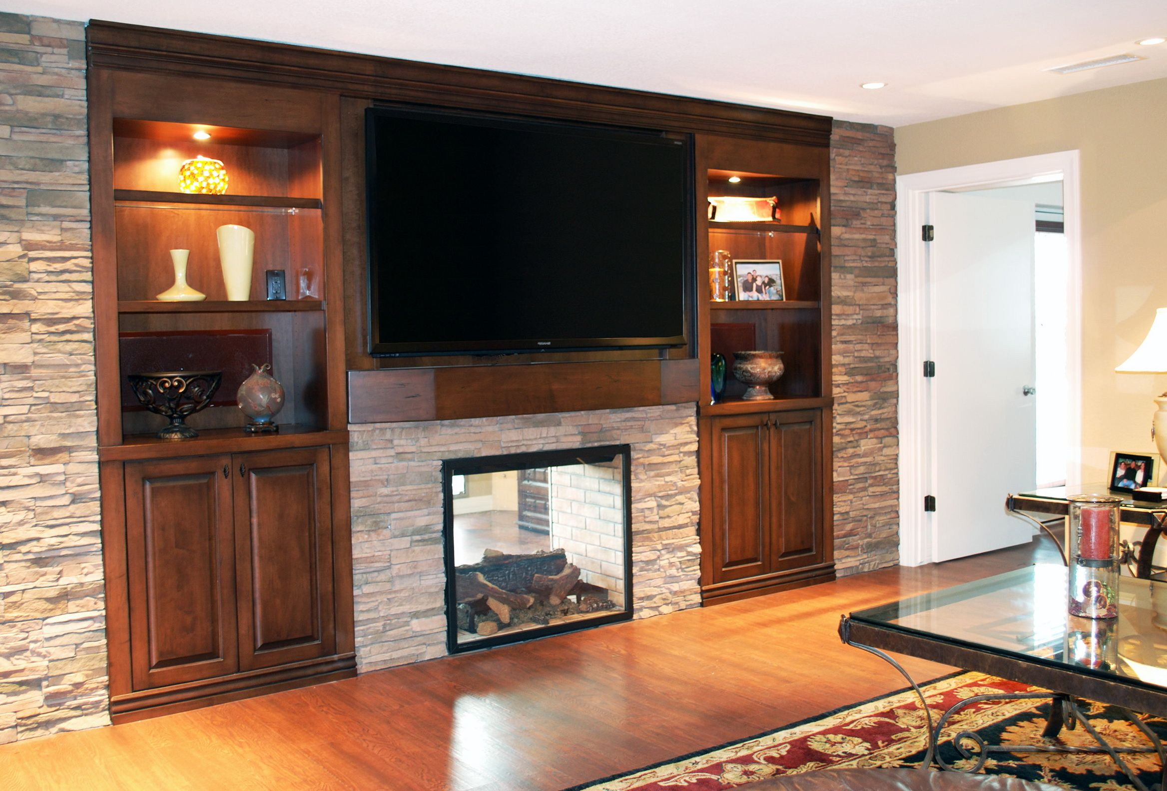 wall entertainment centers with fireplace | Fireplace Entertainment ...