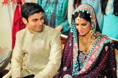 Sanam Saeed Pakistani Actress Wedding Pictures With Farhan Hassan