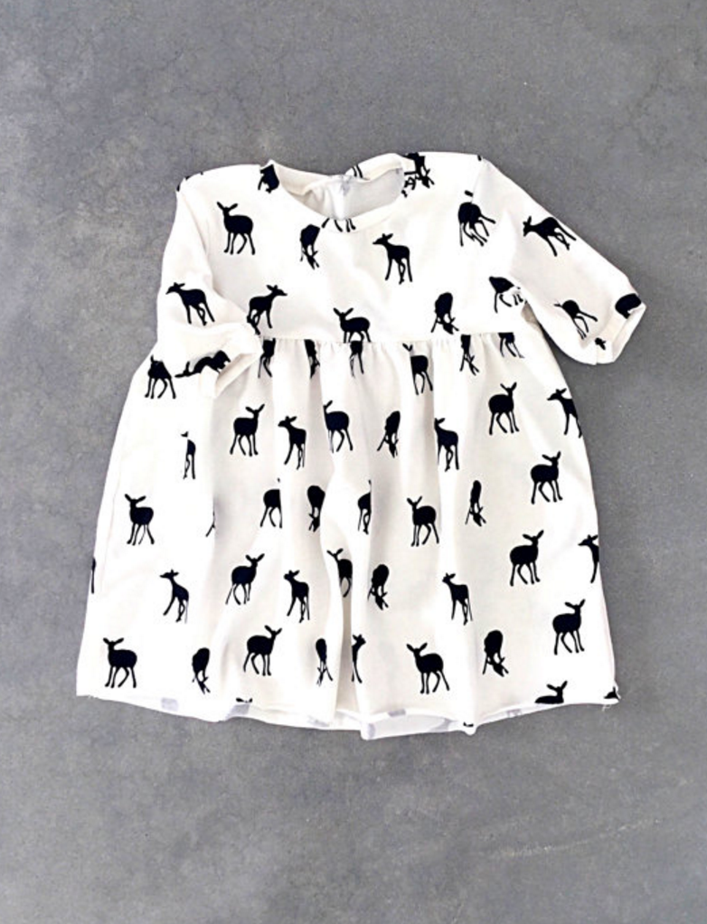 Handmade Deer Print Dress by Sunny Afternoon on Etsy