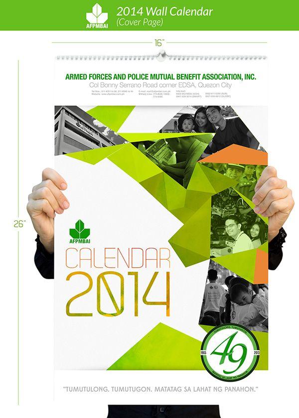 Wall Calendar 2014 on Behance | calendar | Pinterest | Calendar ...