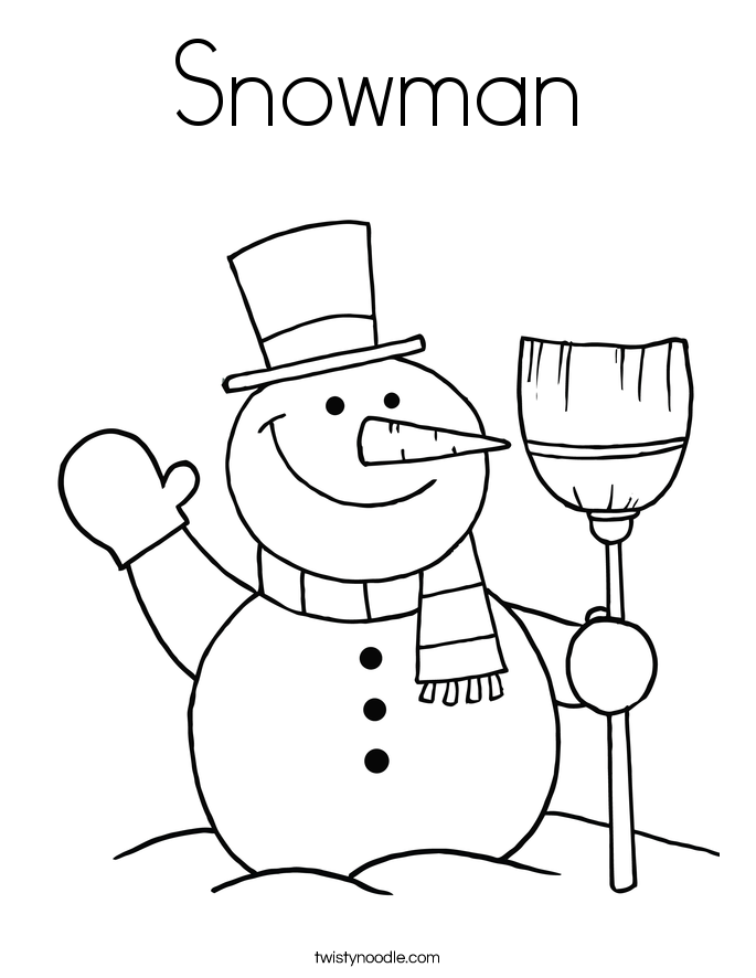 Snowman Coloring Pages | snow | Pinterest | Sight words, Pre-school ...