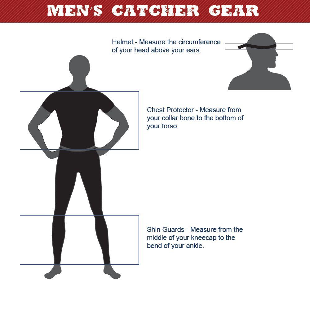 Baseball Catcher's Gear Size Chart Baseball catchers