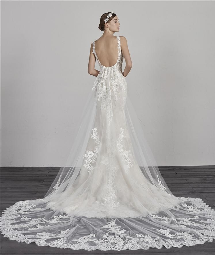 Erma By Pronovias Embroidered Flowers And Lace Give Meaning To
