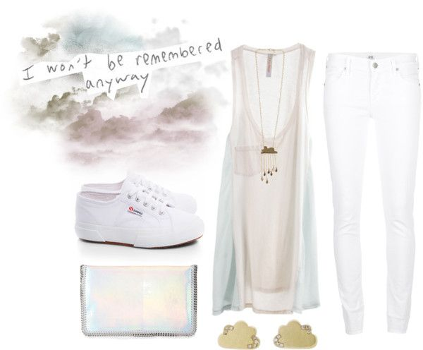 """""""Color of Fashion #5: Cloud"""" by beautifulnoice on Polyvore"""