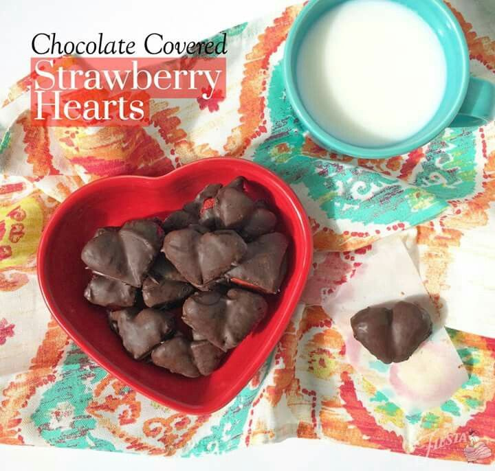 D❤️Fiesta® Chocolate Covered Strawberry Hearts & Chocolate Covered Strawberry Hearts are great for Valentine\u0027s Day or ...