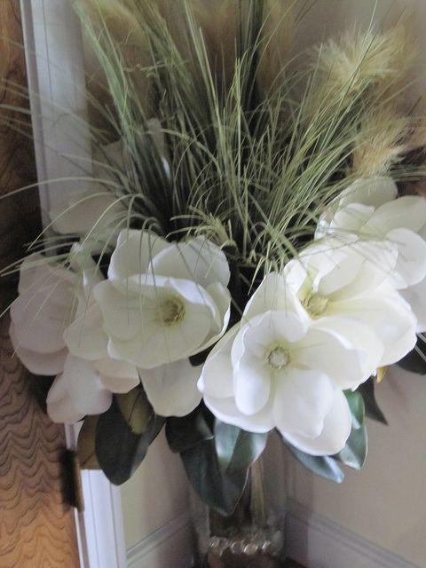 Magnolia and Grass Flower Arrangement