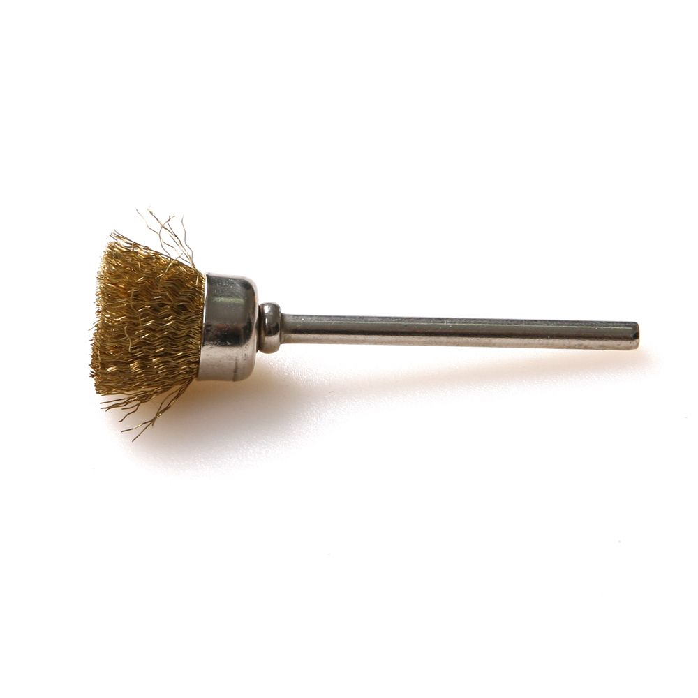 10x rotary mini tools steel wire wheel brushes cup rust cleaning - 100pcs 1 8 3mm Shank Brass Wire Wheel Brush Wire Cup Brush Compatible