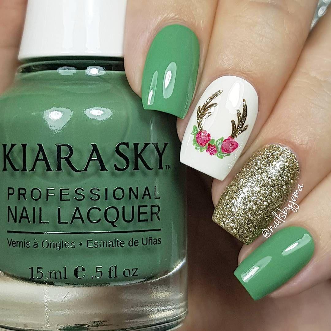 Christmas Nails | Nails | Pinterest | Diseños de uñas, Adornos de ...