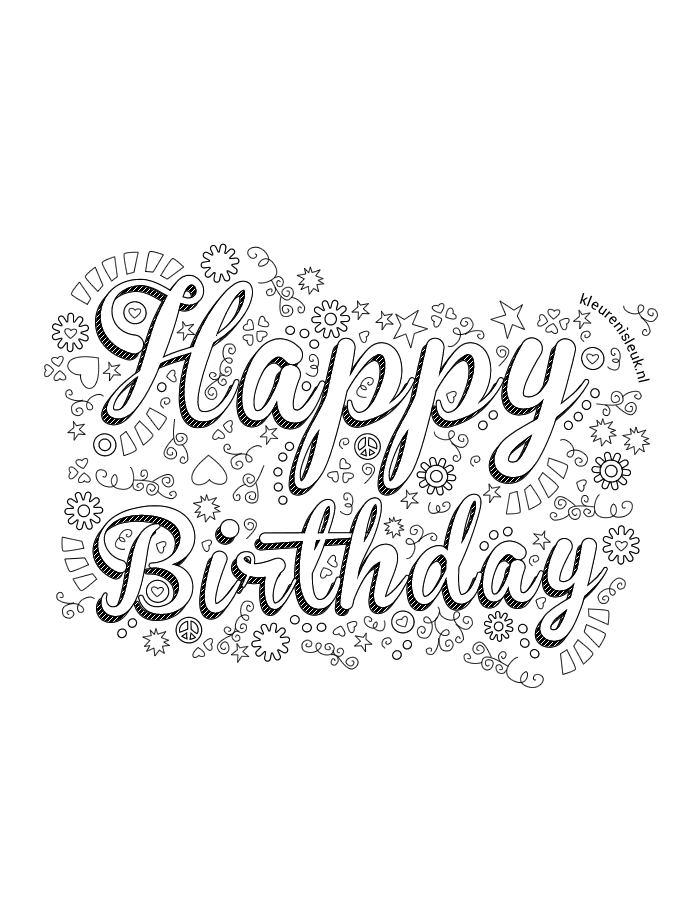 kleurplaten verjaardag volwassenen vlairmatrassen