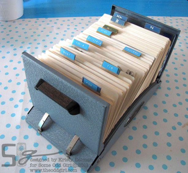 stamp storage in a rolodex