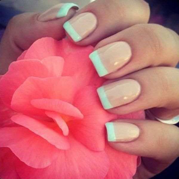 70 Ideas of French Manicure | Esmalte blanco, Manicura francesa y ...