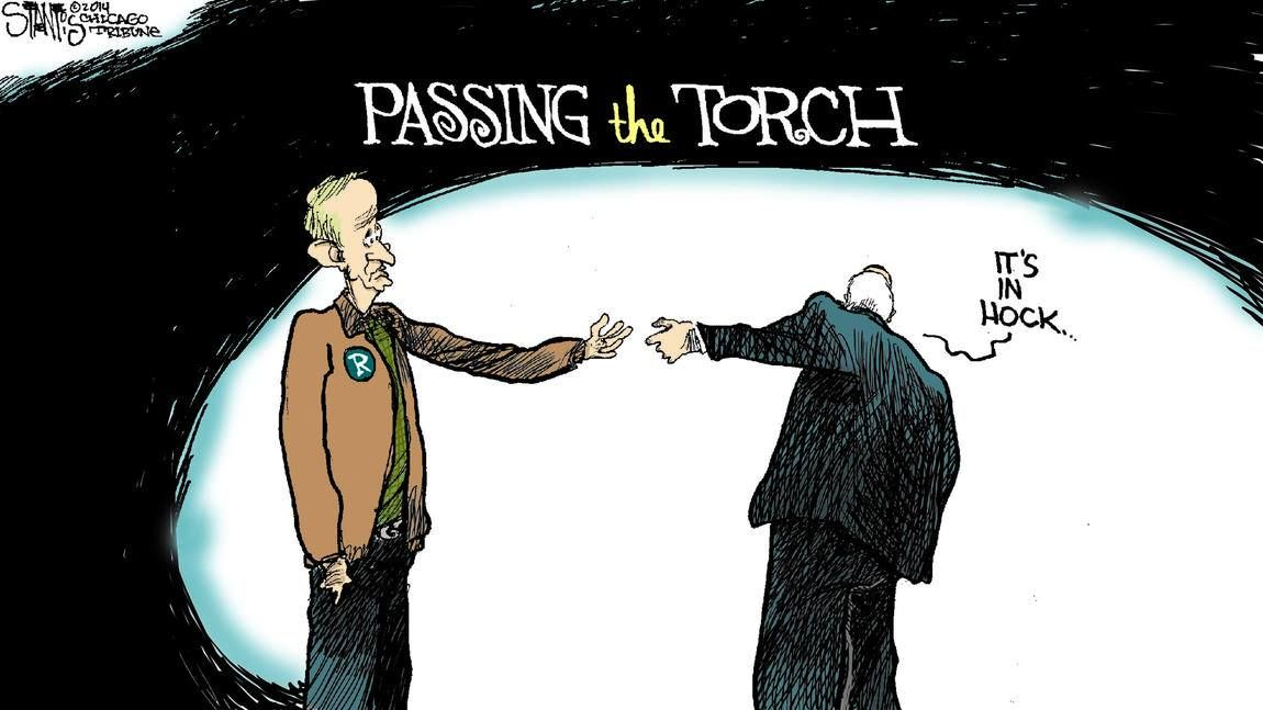 Passing the torch political cartoons lettering torch