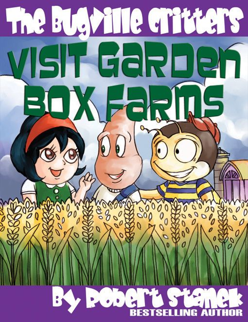 The original cover for Visit Garden Box Farms. Art from watercolors.