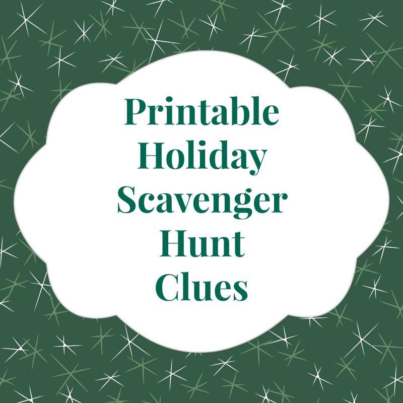 Christmas Gift Scavenger Hunt Riddles: Printable Holiday Scavenger Hunt Clues Make Present