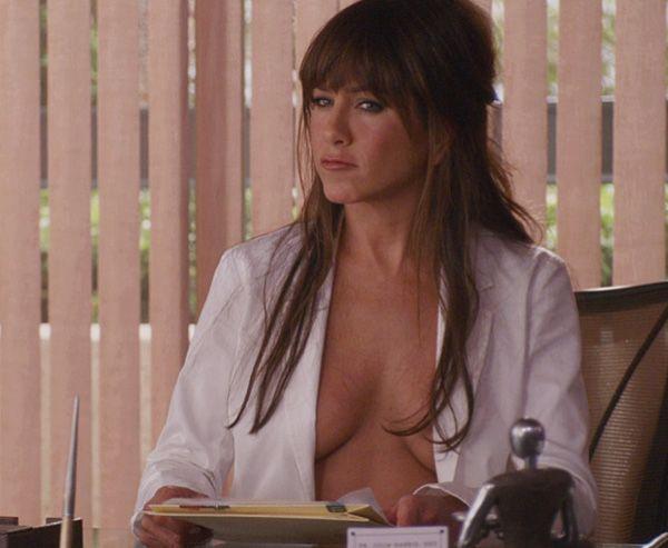 Pinder Jennifer aniston in sex scene flat chest