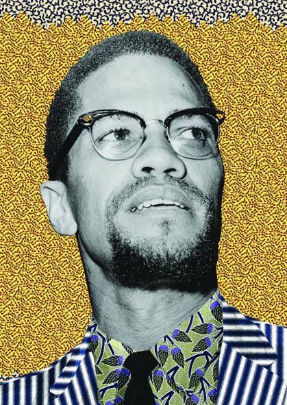 Malcom X Greeting Card Afrofuturism Art African Art Black Art