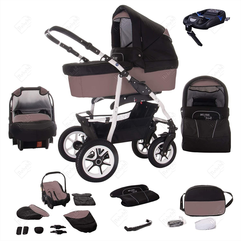 Bebebi Bellami Isofix Basis Autositz 4 In 1 Kombi Kinderwagen Luftreifen Farbe Bellafango In 2020 Kinderwagen Luftreifen Kinder Wagen Kinderwagen