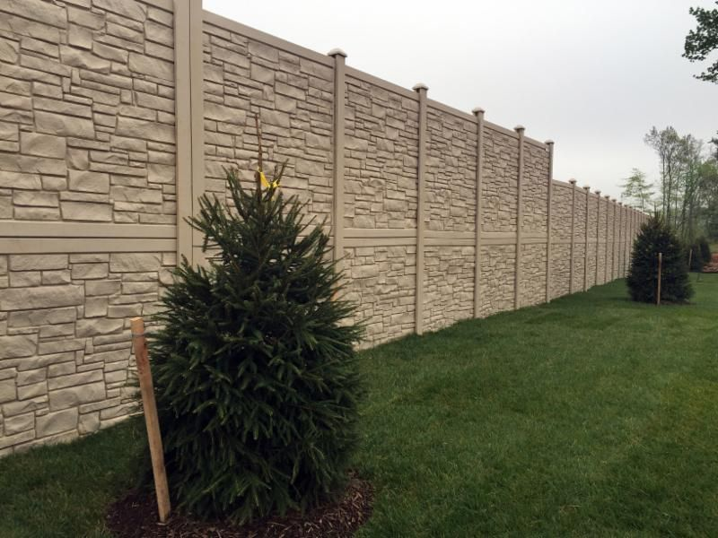 Simtek Ecostone Fence Was Used As A Sound Barrier Wall For A