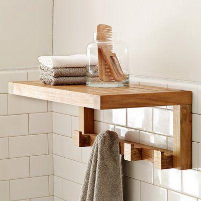 Teak Wood Bathtub Shelf Teak Bathroom Shelf With Hooks