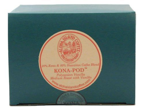 Aloha Island Coffee KONA-POD, French Vanilla Medium Roast, Kona & Hawaiian Coffee Blend, 18-Count Coffee Pods - http://thecoffeepod.biz/aloha-island-coffee-kona-pod-french-vanilla-medium-roast-kona-hawaiian-coffee-blend-18-count-coffee-pods/