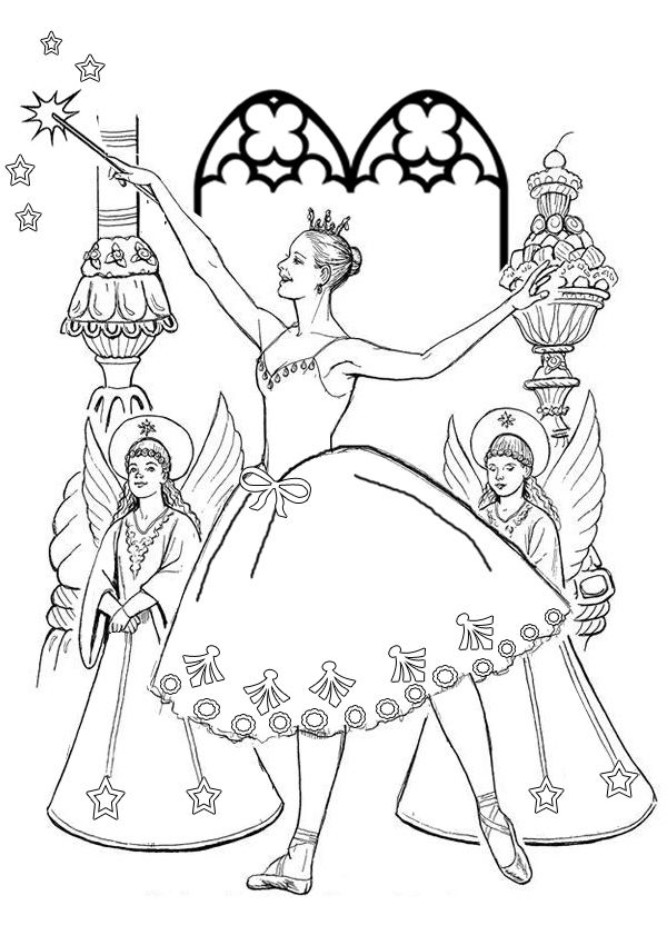Free Online Printable Kids Colouring Pages The Sugarplum Fairy Colouring Page Fairy Coloring Pages Fairy Coloring Coloring Pages
